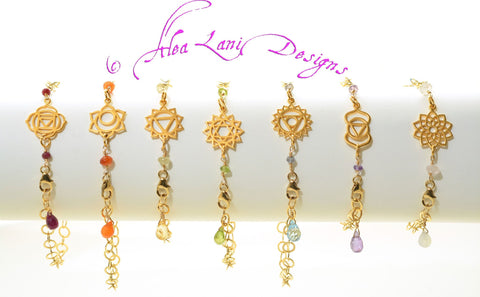 14k Gold Filled Chakra Chain Bracelet