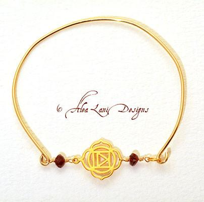 14k Gold Filled Chakra Bangle