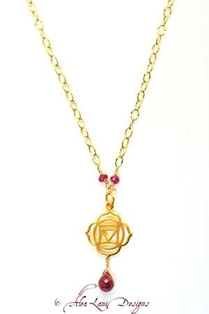 14k Gold Filled Chakra Necklace