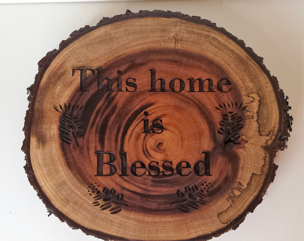 This Home Is Blessed Koa Wall Art - Hawaii Bookmark