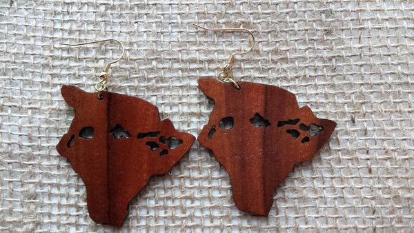 Island Chain Koa Earrings