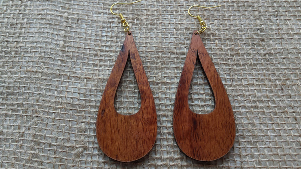 Peleʻs Tears Koa Earrings