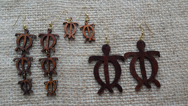 Honu Koa Earrings