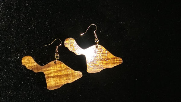 Maui Li'i koa earrings