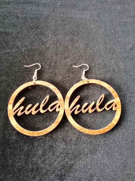 Hula koa earrings
