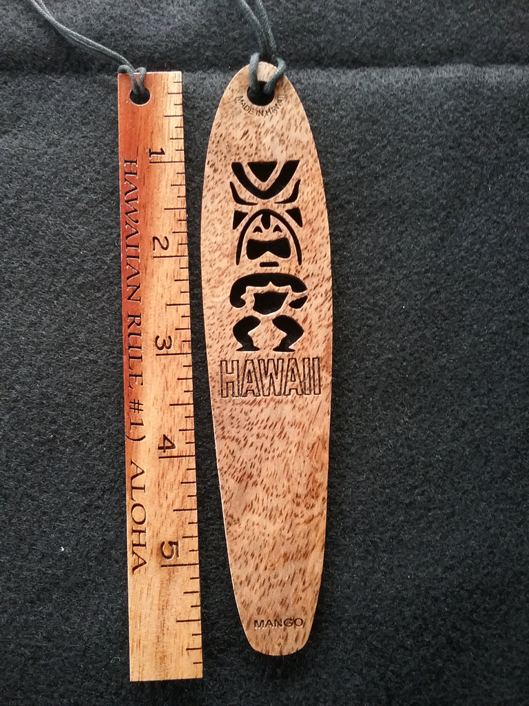Tiki Mango Bookmark - Hawaii Bookmark