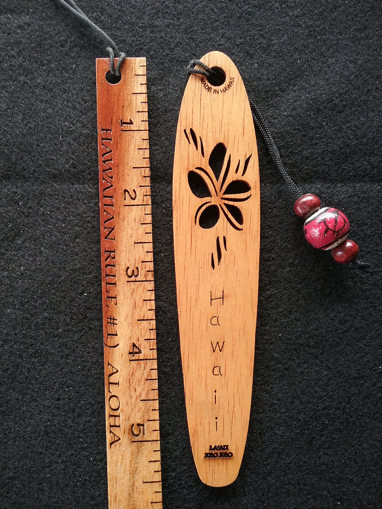 Plumeria La'au Ke'oke'o Bookmark - Hawaii Bookmark