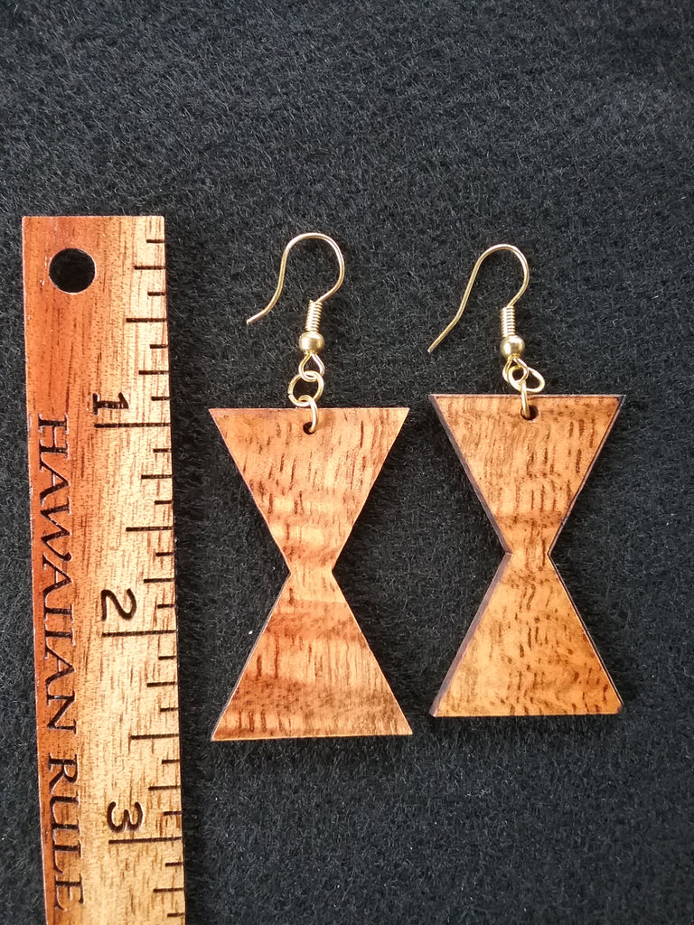 Pewa Koa Earrings - Hawaii Bookmark