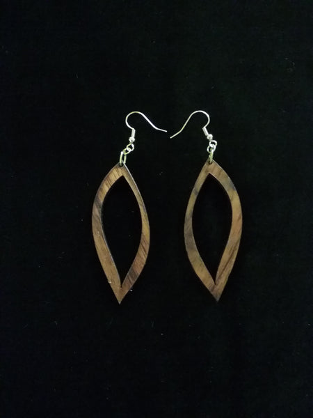 Hā'ule Lau Puka Koa Earrings