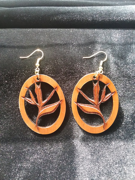 Kahio koa earrings