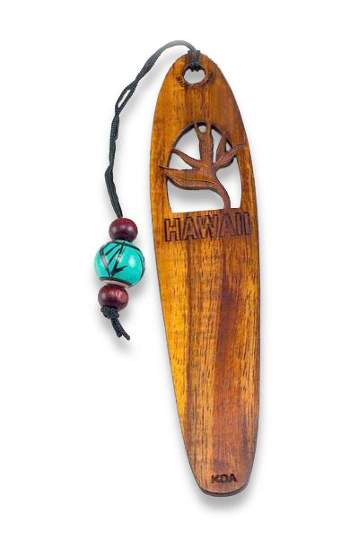 Bird of Paradise Koa Bookmark