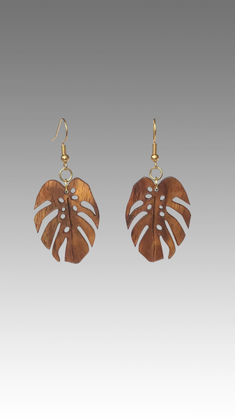 Monstera Koa Earrings