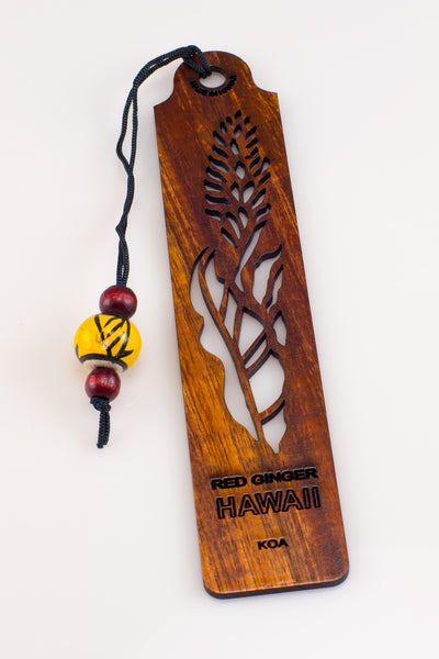 Red Ginger Koa Bookmark
