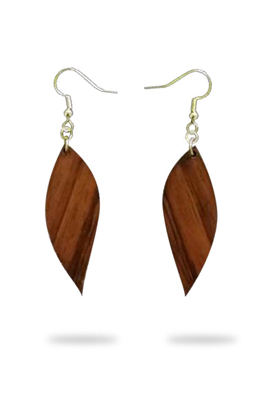 Hā'ule Lau Koa Earrings - Hawaii Bookmark