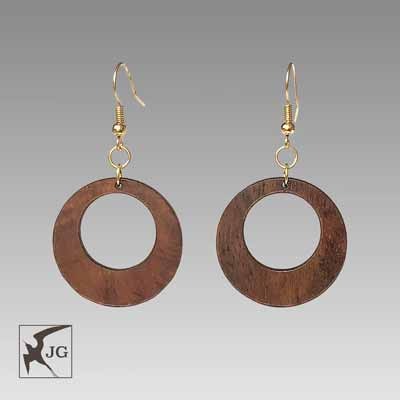 Hoops Koa Earrings
