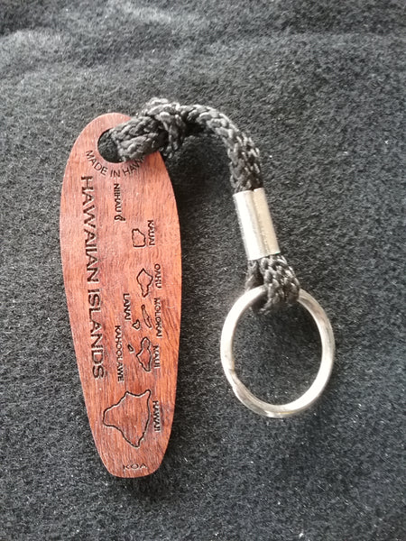 Island Chain Koa Keychain on nylon strap