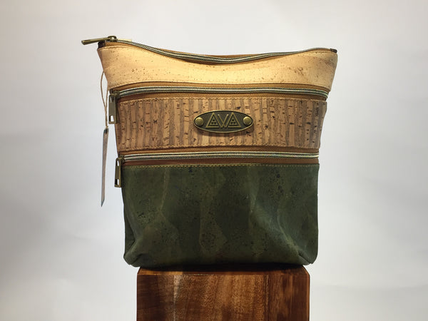 SewDaKine OniOniO Cork Stripe And Evergreen Handbag - Hawaii Bookmark