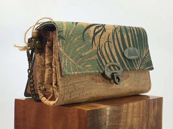 SewDaKine Mahua Palm And Monstera Clutch Bag - Hawaii Bookmark