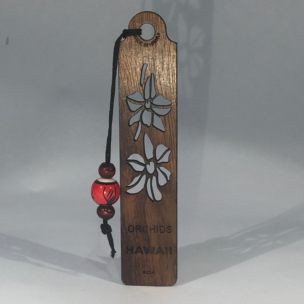 Orchids Koa Bookmark - Hawaii Bookmark