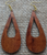 Peleʻs Tears Nui Koa Earrings - Hawaii Bookmark