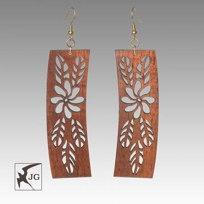 Tiare Koa Earrings