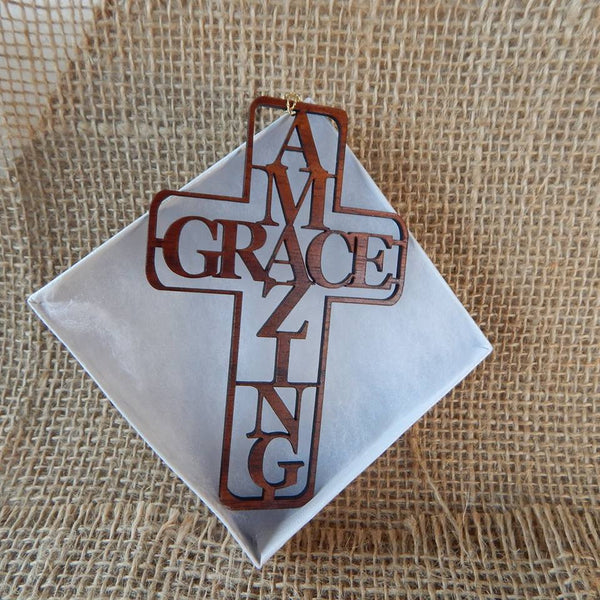 Amazing Grace Koa Ornament