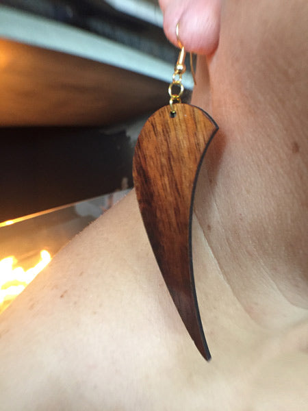 Anela Koa Earrings - Hawaii Bookmark