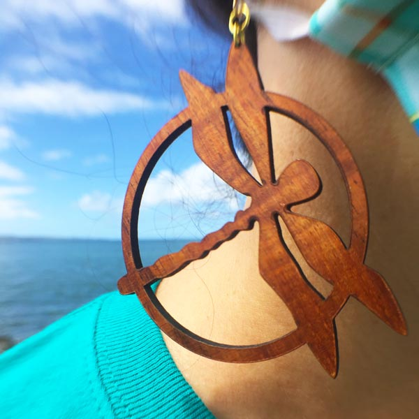 Pinao Koa Earrings - Hawaii Bookmark