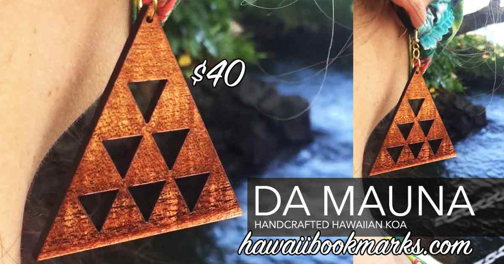 Mauna Koa Earrings - Hawaii Bookmark