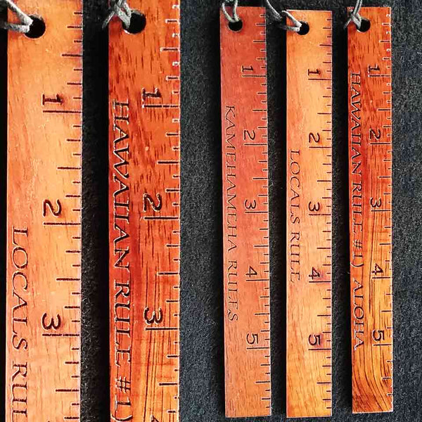 Koa 6-Inch Ruler - Hawaii Bookmark