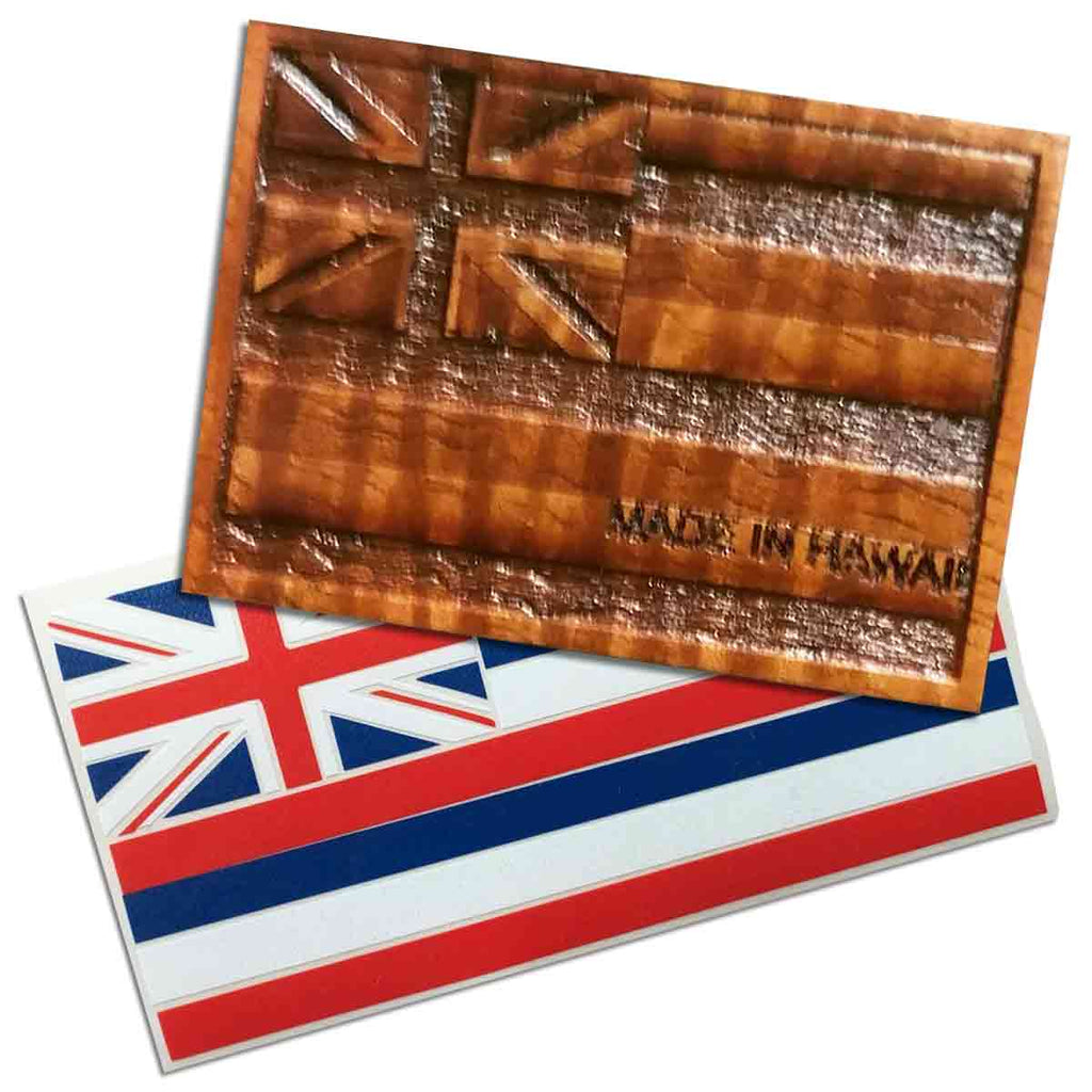 Hawaiian Flag Decal with Koa Hawaii Flag Hat Pin - Hawaii Bookmark