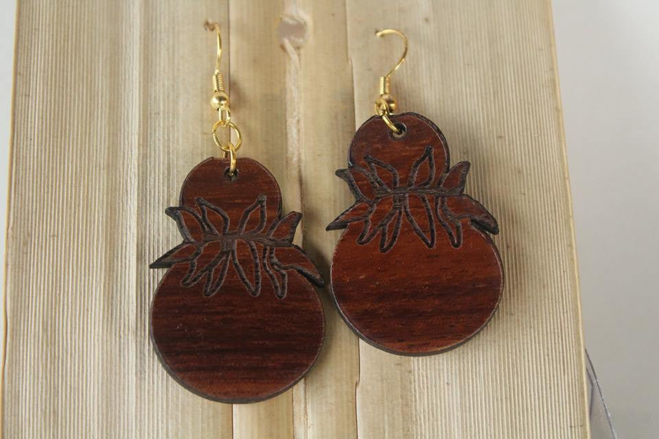 Ipu Koa Earrings - Hawaii Bookmark