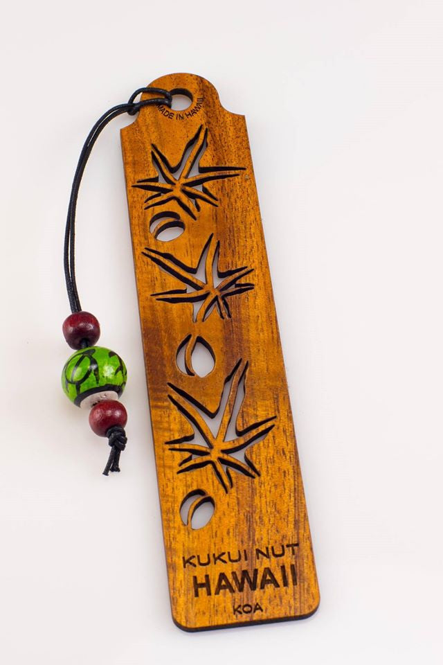 Kukui Nut Koa Bookmark - Hawaii Bookmark