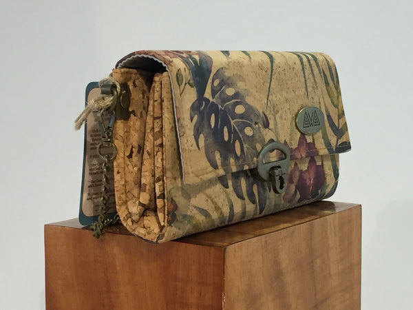 SewDaKine Mahua Orchid And Monstera Clutch Bag - Hawaii Bookmark
