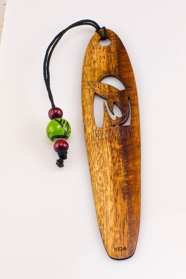 Shark Koa Bookmark - Hawaii Bookmark