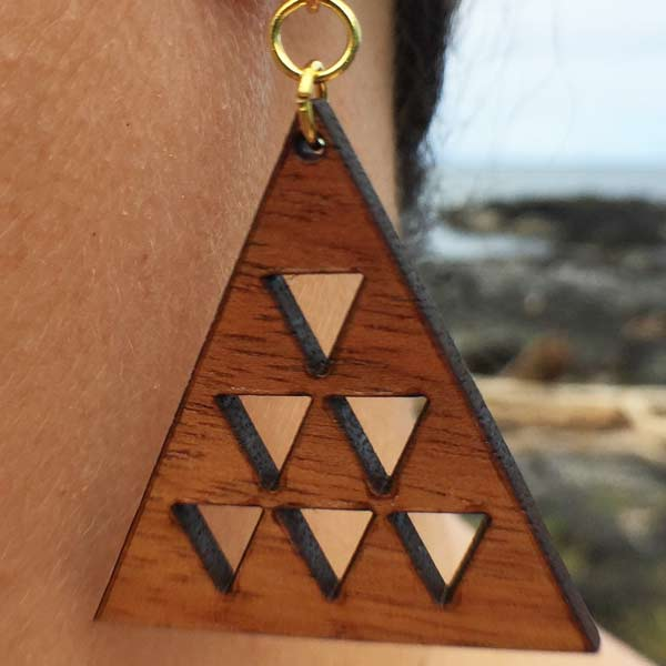 Mauna Li'i Koa Earrings