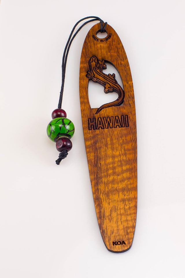 Gecko Koa Bookmark - Hawaii Bookmark