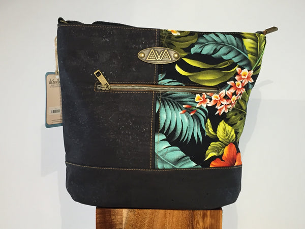 SewDaKine Pakeke Island Flowers Handbag - Hawaii Bookmark
