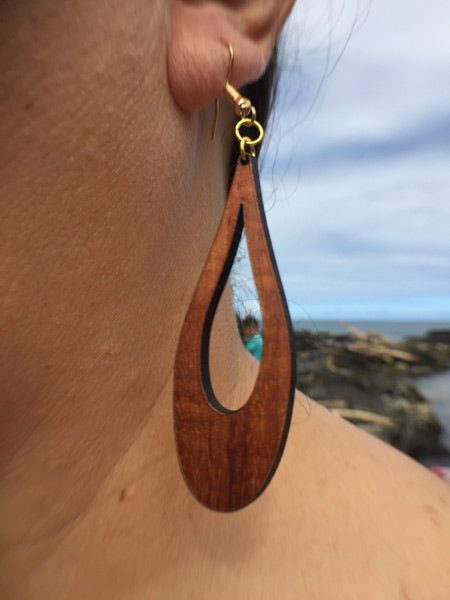 Peleʻs Tears Li'i Koa Earrings