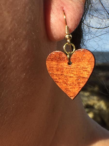 Pu'uwai Haokila Koa Earrings