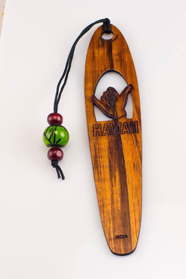 Shaka Koa Bookmark - Hawaii Bookmark