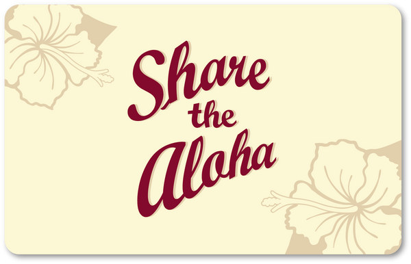 ♥ Share The Aloha Gift Card ♥ - Hawaii Bookmark