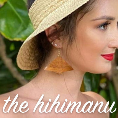 Hihimanu Koa Earrings
