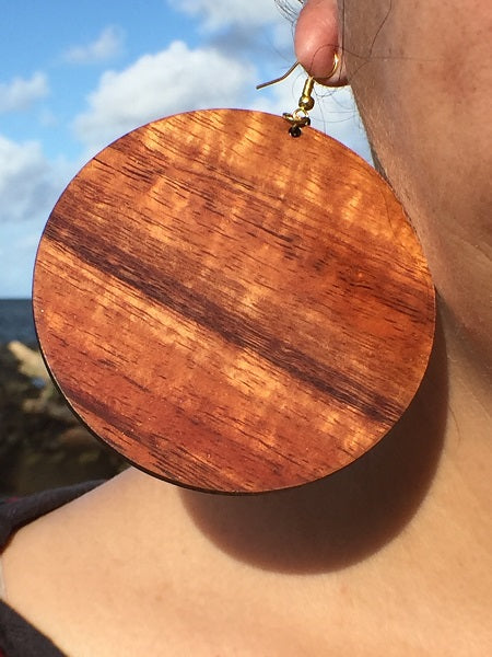 'Ulu Maika Koa Earrings