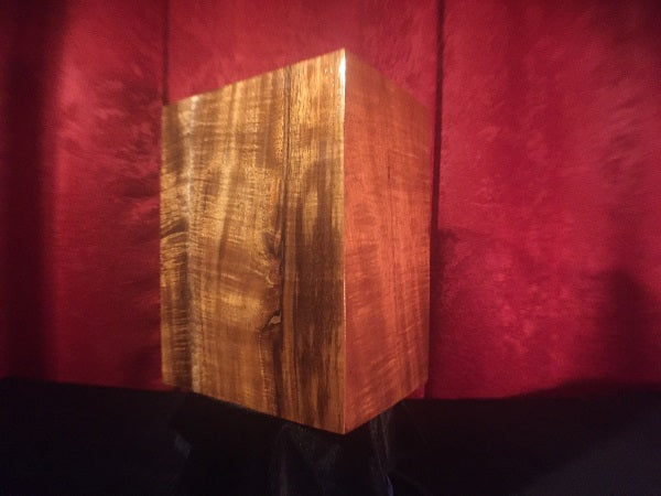 Beautiful Hawaiian Koa Urn For Loved Ones - Wood Grain Style #2 - Hawaii Bookmark