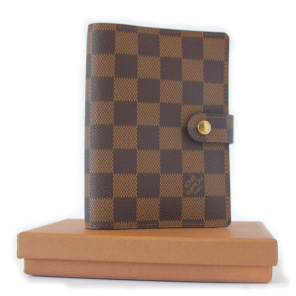 Louis Vuitton Damier Ebene Agenda PM Diary Case with box