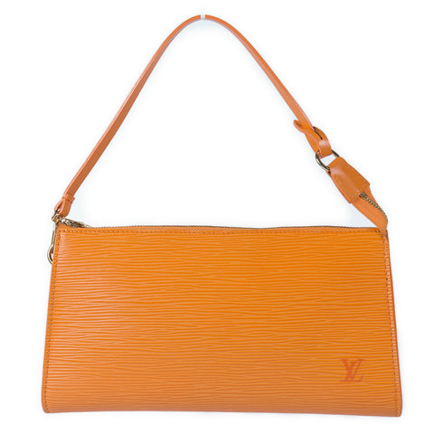 Louis Vuitton Epi Pochette Accessories Mandarin front