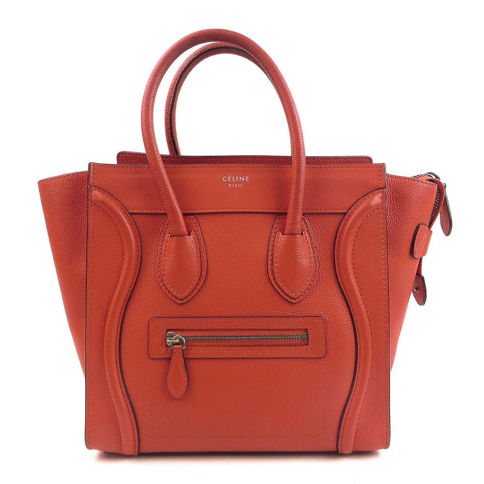 Celine Leather Micro Luggage Handbag re-fashion.co