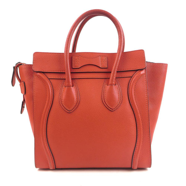 Luxury mart Luxury-mart.com Celine Leather Micro Luggage Handbag