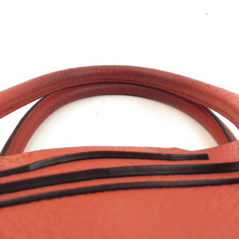 Celine Leather Micro Luggage Handbag